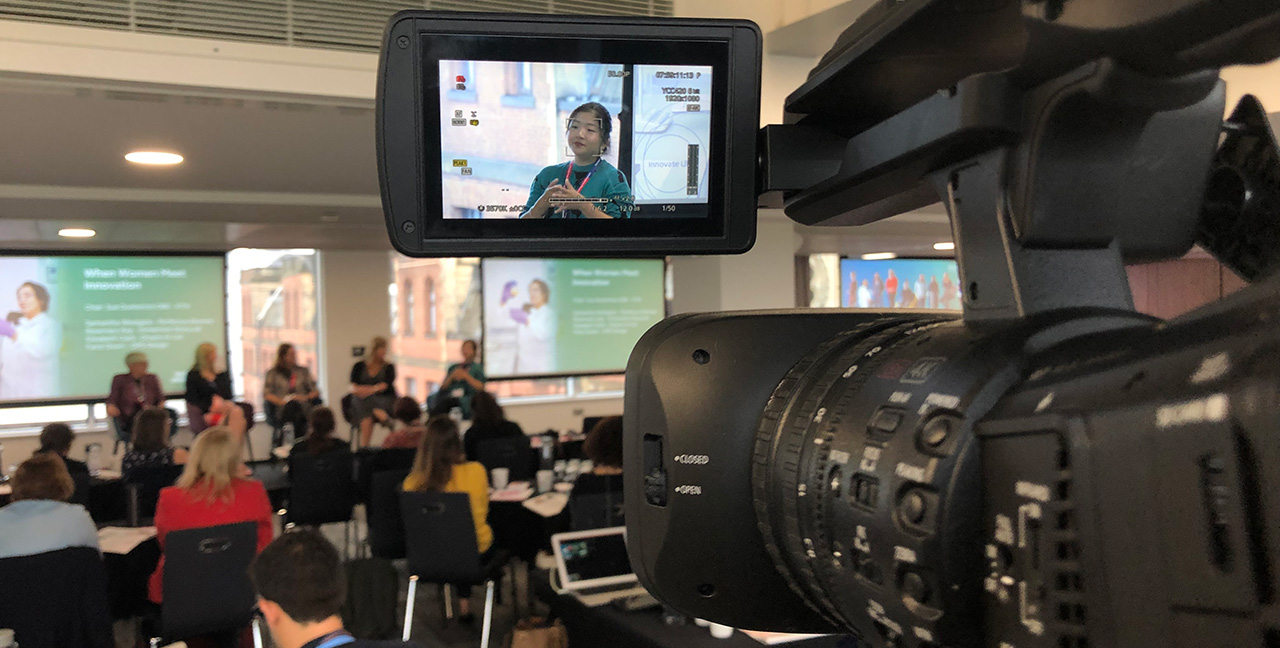 Live webcasting at Women In Innovation Event